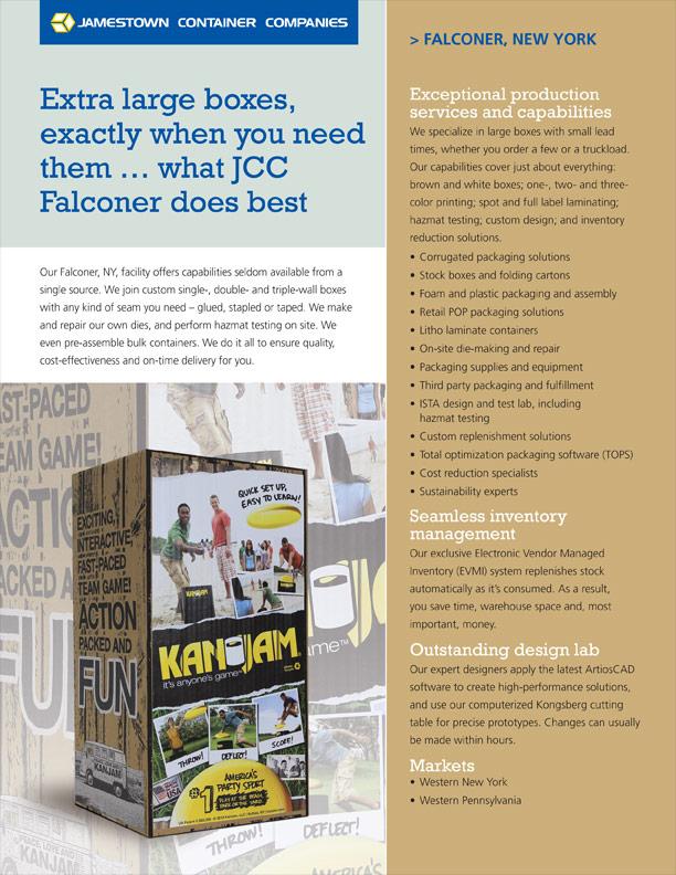 Falconer Facility Sheet