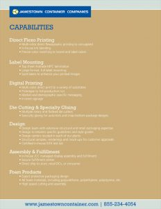 Graphic Capabilities Sell Sheet
