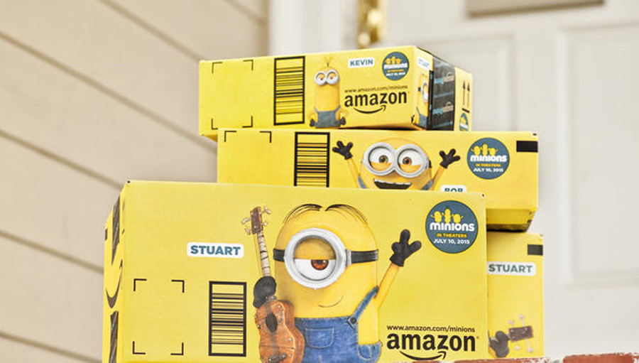 amazon minions ad ecommerce packaging