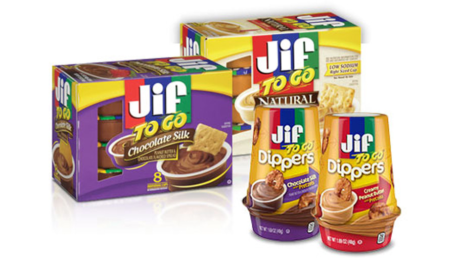 Jif to go product packaging
